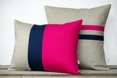 Jillian Renee Decor Colorblock Stripe Pillow Set, $135, available at Jillian Renee Decor.