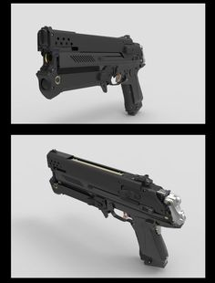Inflitrator Pistol, James Hawkins on ArtStation at https://www.artstation.com/artwork/inflitrator-pistol