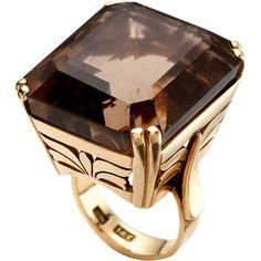 Camilla Dietz Bergeron, Ltd.: Smoky Quartz Ring ($1,750) ❤ liked on Polyvore