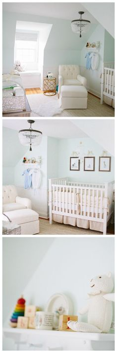 This elegant gender neutral nursery is light, bright, and perfect for a baby boy or girl.