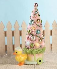Bethany Lowe Easter Chick with Cart and Easter Tree LG1669 New Mint w Tag