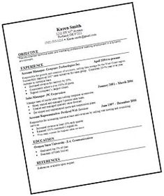 Image Result For Resume Examples For Internship