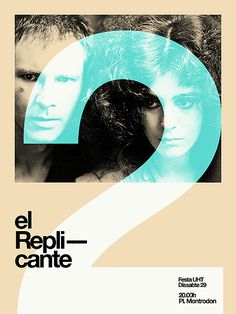 El replicante 2nd concert   Poster by MARIN DSGN