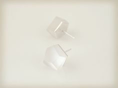 Vu - crystal clear, silver plated earrings