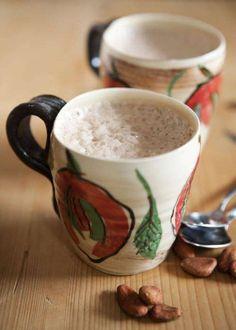 En härlig chokladstund har guld i mun. Frozen, Tableware, Kitchen, Dinnerware, Cuisine, Dishes, Kitchens, Stove, Cucina