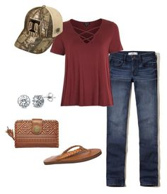 """""""Outfit"""" by madisonbrown904 on Polyvore featuring Hollister Co., Topshop, Top of the World, Rainbow, Billabong and BERRICLE"""