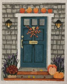 Just in time for Fall a brand Julie Paukert canvas Doorway, Needlepoint, Crafty, Embroidery, Canvas, Knitting, Fall, Instagram, Entryway