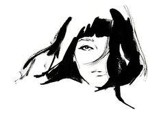 Fashion illustration by Yoco Nagamiya.
