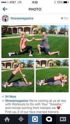 Chris & Heidi Powell's couple workout