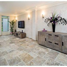 vornehme sandstein boden-platten im wohnzimmer | natursteine ... - Gestaltung Wohnzimmer Sandstein