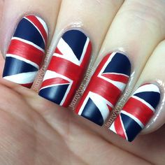 pin this pin if you are from Britain. I'm not, i'm a CANADIAN but this was a cute nail art pic.