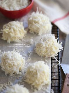 Make coconut snowball cookies. | 30 Adorable Treats To Make When It Snows