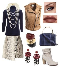 """""""80s Makeover Style. Casual Outfit."""" by hellenrose7292 on Polyvore featuring Sans Souci, Salvatore Ferragamo, Banana Republic, White + Warren, Chinese Laundry, Chanel and Marni"""
