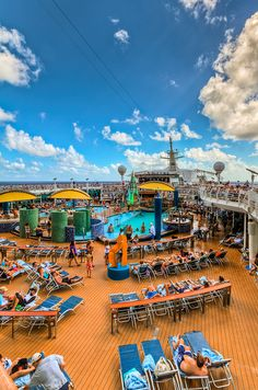 Voyager of the Seas. Cool off in one of the two swimming pools or relax in one of the four whirlpools onboard.