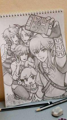 The Legend Of Zelda 558798266256626124 - Dessin Link Source by TatianaTht The Legend Of Zelda, Legend Of Zelda Memes, Legend Of Zelda Breath, Zelda Drawing, Legend Drawing, Geeks, Drawing Sketches, Drawings, Link Art