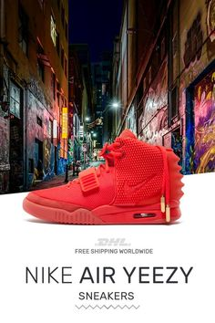 383afc7feeb93 Buy mens size Nike Air Yeezy PS Red October trainers