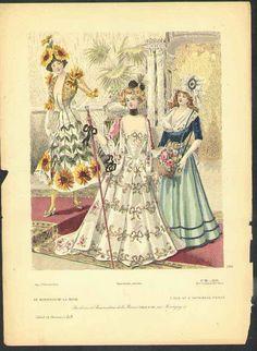 Fancy dress ensembles from the September 1899 Moniteur de la Mode.