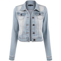 BEKTOME Womens Classic Casual Vintage Denim Jean Jacket (99 RON) ❤ liked on Polyvore featuring outerwear, jackets, blue jackets, denim jacket, blue jean jacket, vintage jackets and jean jacket