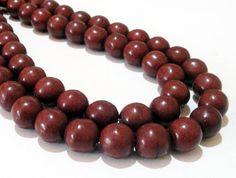Brown Round Beads  Smooth Round Ball Beads  Howlite