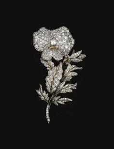 Diamond brooch, <P>late 19th Century</P> | Lot | Sotheby's