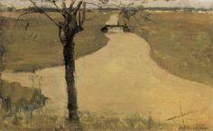 Piet Mondrian. Tree on the Kalfje, 1901-1902  Haags Gemeentenmuseum, Hague