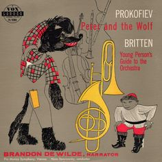 Vintage ALbum Sleeve for Prokofiev's Peter and the Wolf and Britten's Young Persons guide to the Orchestra.