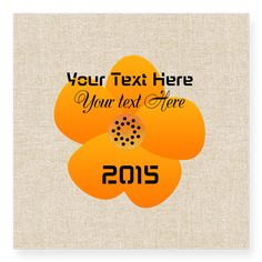 Sunny Bright Fluffy Flower Holiday Party Sticker.