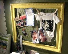 this could be  a great solution for a boring old bulletin board area.