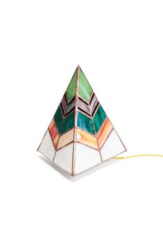 Three sided pyramid lamp with frosted acrylic base and an cord with in-line rotary switch. Measures approximately: x x All products are made to order. Please allow week lead time. Stained Glass Lamps, Stained Glass Patterns, Mosaic Glass, Glass Art, Mosaic Art, Large Friends, Glass Supplies, Large Lamps, Mosaics