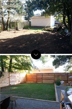 Before & After: The Little NoPo Farmhouse Yard - front yard landscaping ideas for full sun Sloped Backyard, Small Backyard Landscaping, Backyard Retreat, Backyard Patio, Landscaping Ideas, Patio Ideas, Landscaping Costs, Nice Backyard, Backyard Layout