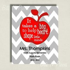 Classroom Decor Personalized Teacher Gift by BitsnPiecesEvents, $10.00
