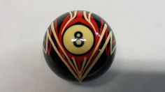 Custom painted pinstriped shift knob 8 ball by HoltsCustomPainting, $39.95