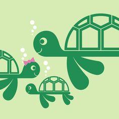 Sea Turtle Wall Decals Ocean theme Baby Nursery Children