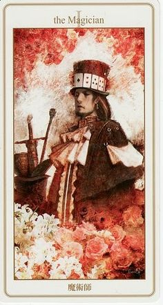 Lunatic Tarot - I-The Magician - the more I see of this deck, the more I want it :) #tarot #cards #divination
