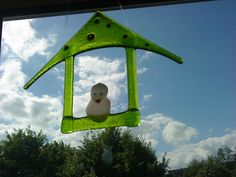 Glass birdhouse