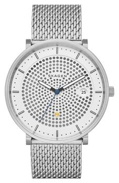 Skagen 'Hald Solar' Solar Powered Mesh Strap Watch, 40mm