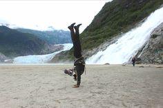 Working on my handstands in Alaska » Yoga Pose Weekly