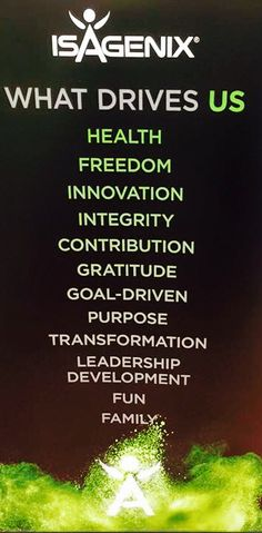 What's drives us? 4futurehealth@gmail.com www.kristinaloggins.isagenix.com