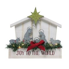 Nicholas Square® Light-Up Nativity Scene Christmas Table Decor, Multicolor Christmas Nativity, Christmas Wreaths, Christmas Crafts, Merry Christmas, Christmas Ornaments, Xmas, Christmas Table Decorations, Holiday Decor, Joy To The World
