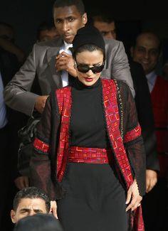 H.H. Sheikha Mozah Bint Nasser of Qatar...She looks amazing in everything