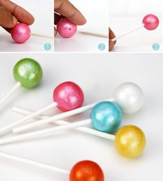 How to Make Gumball Lollipops :: DIY Party Favors