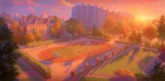 """A Pixar divulgou a arte conceitual da animação """"Universidade Monstros"""""""