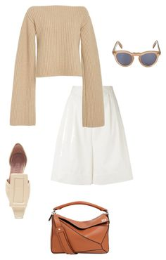 """spring/summer."" by fiftyfive ❤ liked on Polyvore featuring Sonia Rykiel, Khaite, Cutler and Gross, Marni and Loewe"