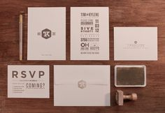 Wedding Invitations with great logo