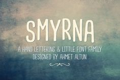 Smyrna Font Family-50%0ff by aatype on @creativemarket