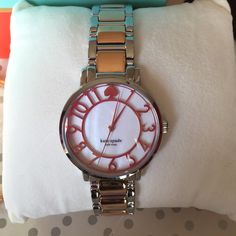 NWT Kate spade Two tone dial watch FIRM PRICE A beautiful watch comes with box and care card. A 100 % Authentic Kate spade. 34 Case Diameter. kate spade Accessories Watches