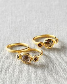 Kevia Jeweled Stacking Rings                                                                                                     from Garnet Hill on Catalog Spree, my personal digital mall.