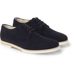 Mr. Hare | Bux Suede Derby Shoes Blue UK11 #MrHare #derby #shoes