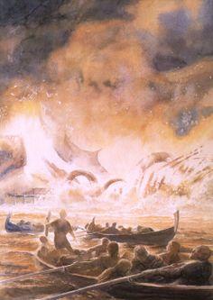 Alan Lee: Death of Smaug