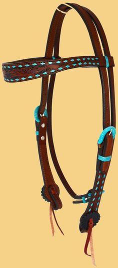 Contoured brow headstall with turquoise buckstitch tooling with black painted background. Barrel Racing Tack, Headstall, Paint Background, Horses, Turquoise, Personalized Items, Barrel Racing, Horse